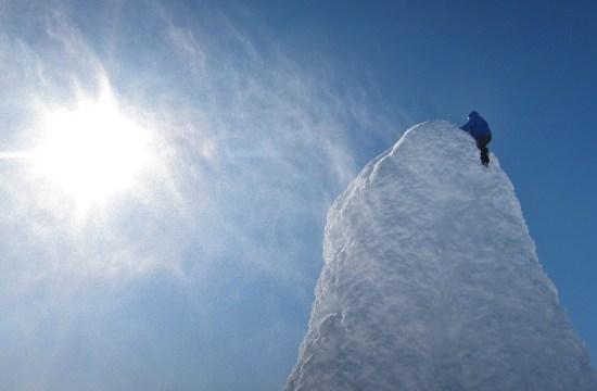 Aron climbing