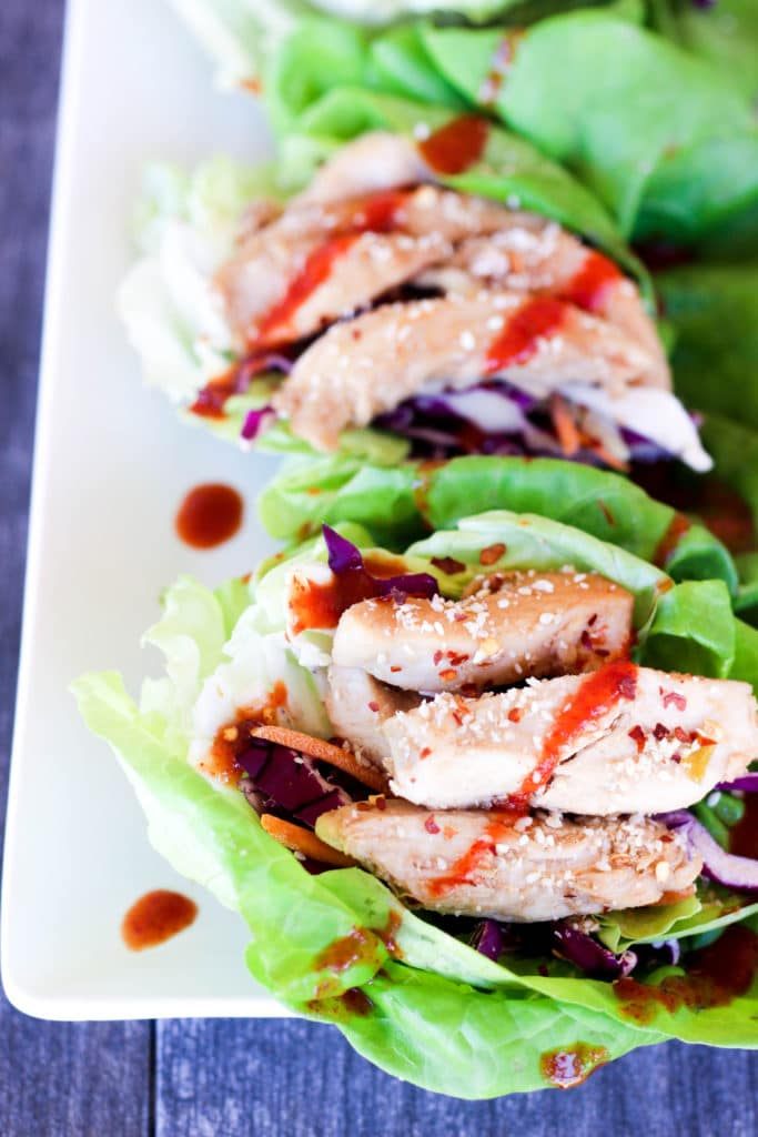 spicy asian chicken lettuce wraps