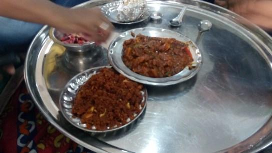 Carrot halwa & Rabri topping