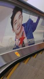 Even along the escalators?