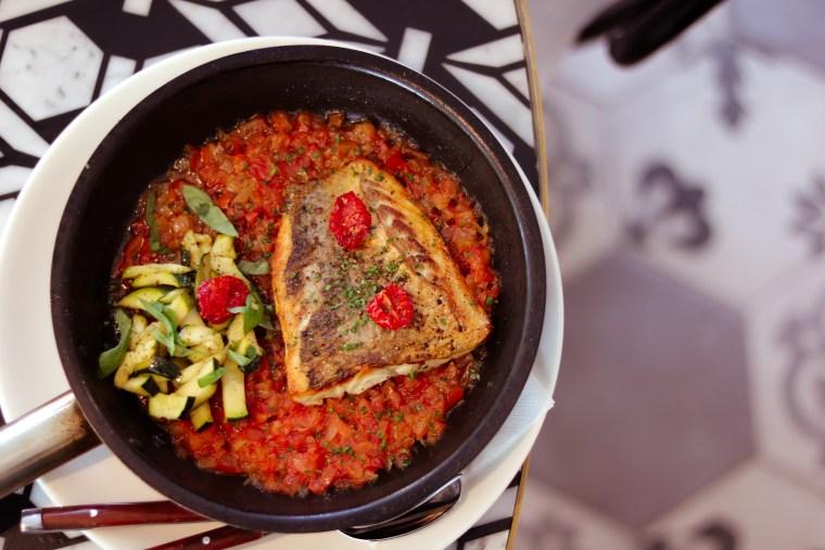 Carine Dubai - Roasted Seabass