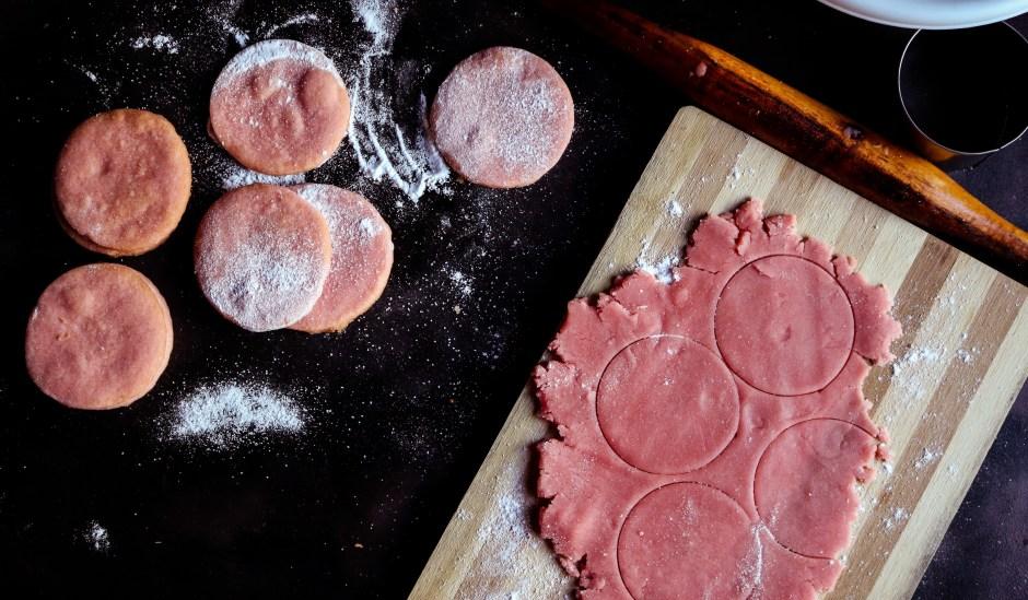 Rose Shortbread Cookies