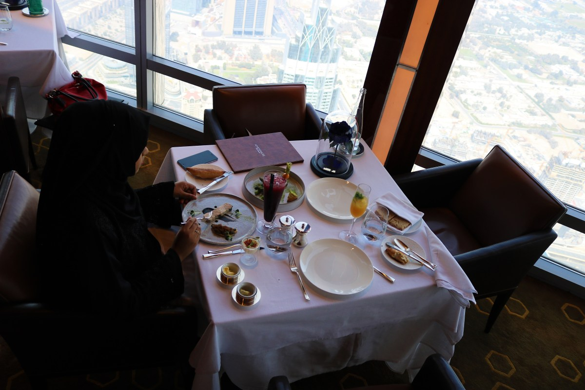 Dining at At.mosphere, Burj Khalifa - The World's Tallest Restaurant