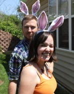 Easter egg hunt and general silliness