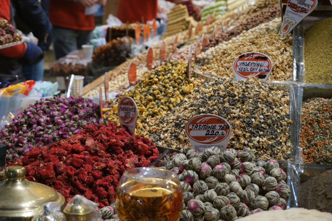 Spices and teas at the Bazaar