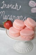 Strawberry French Macarons