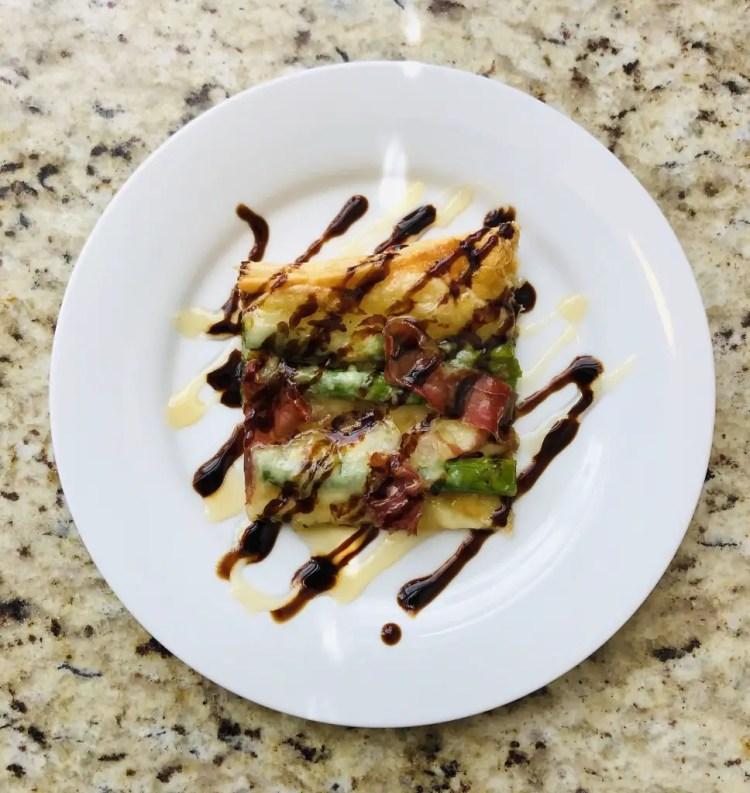 Asparagus, Brie & Prosciutto Tart