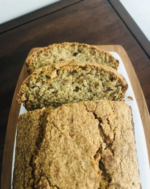 A loaf of Nanny's Zucchini Bread