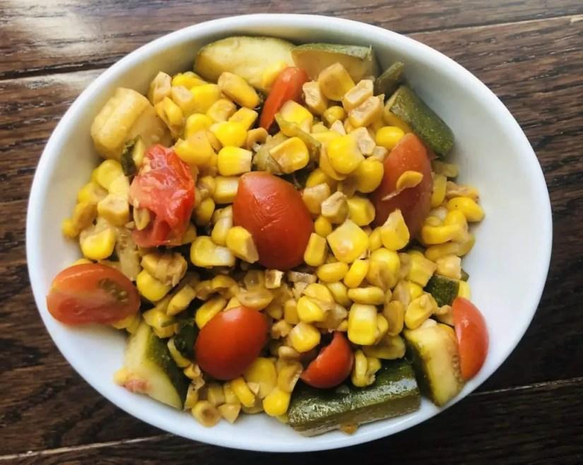 Spicy Zucchini Corn and Tomato Salad