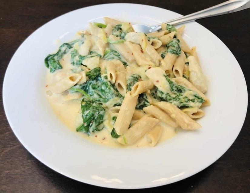 Spinach Artichoke Chicken Pasta