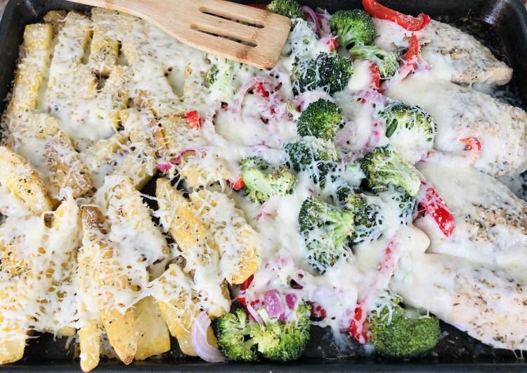 Cheesy Italian Chicken, Potatoes & Vegetables