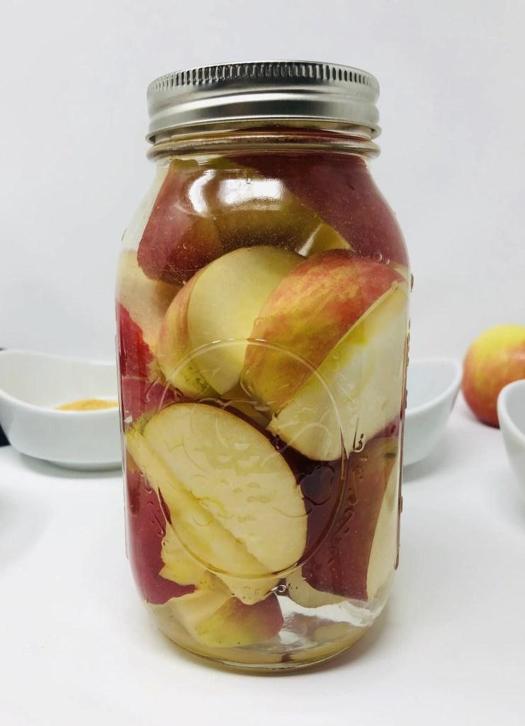 Caramel Vodka Soaked Apples