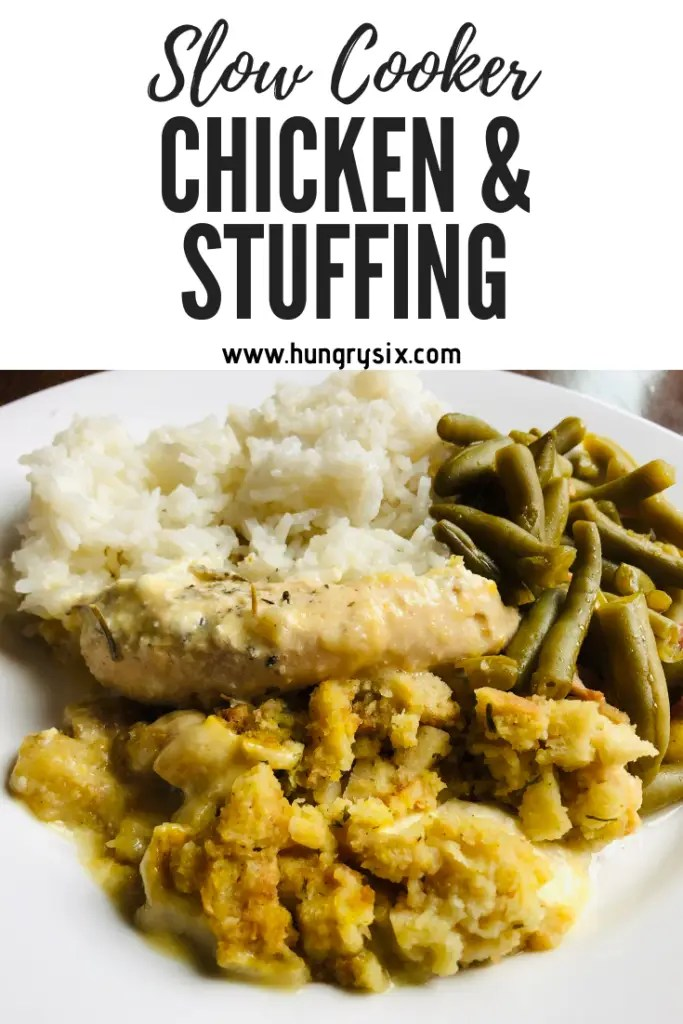 Slow Cooker Chicken and Stuffing Pin