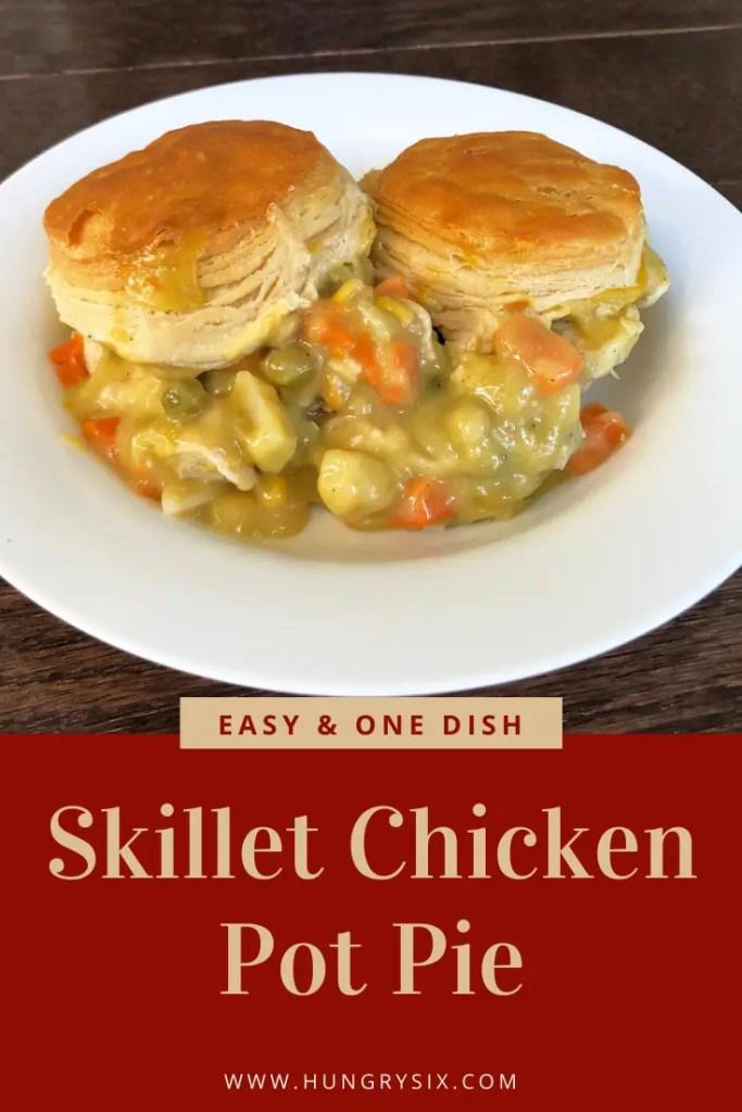 Skillet Chicken Pot Pie Pin