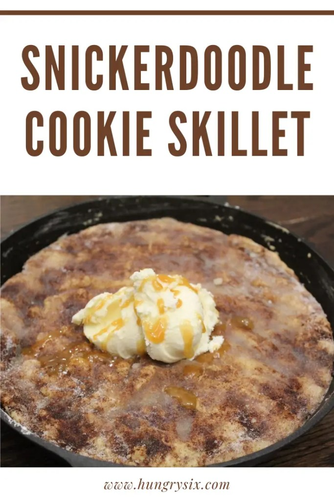 snickerdoodle cookie skillet pin