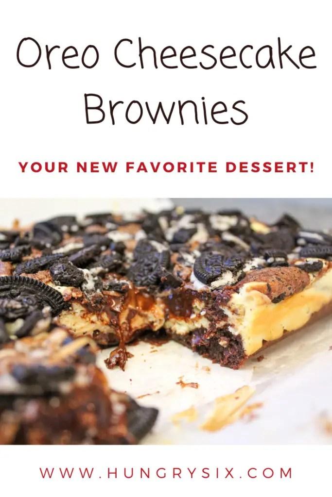 Oreo Cheesecake Brownies Pin
