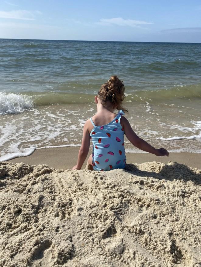 Child on St. George Island Beach