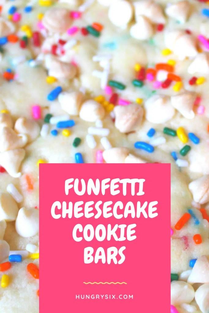 Funfetti Cheesecake Cookie Bars