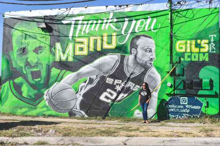 Thank You Manu Mural In San Antonio