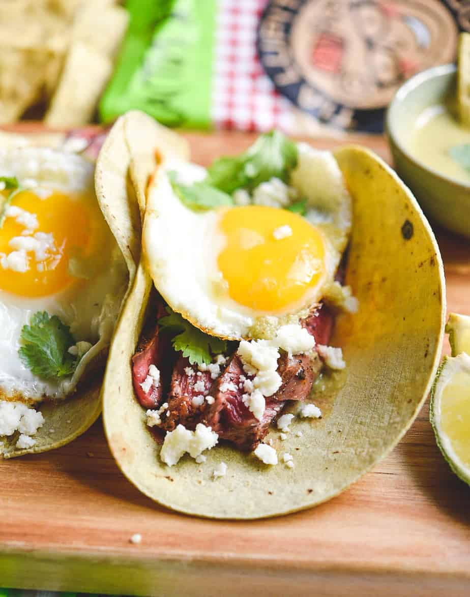 low carb keto breakfast brunch steak tacos