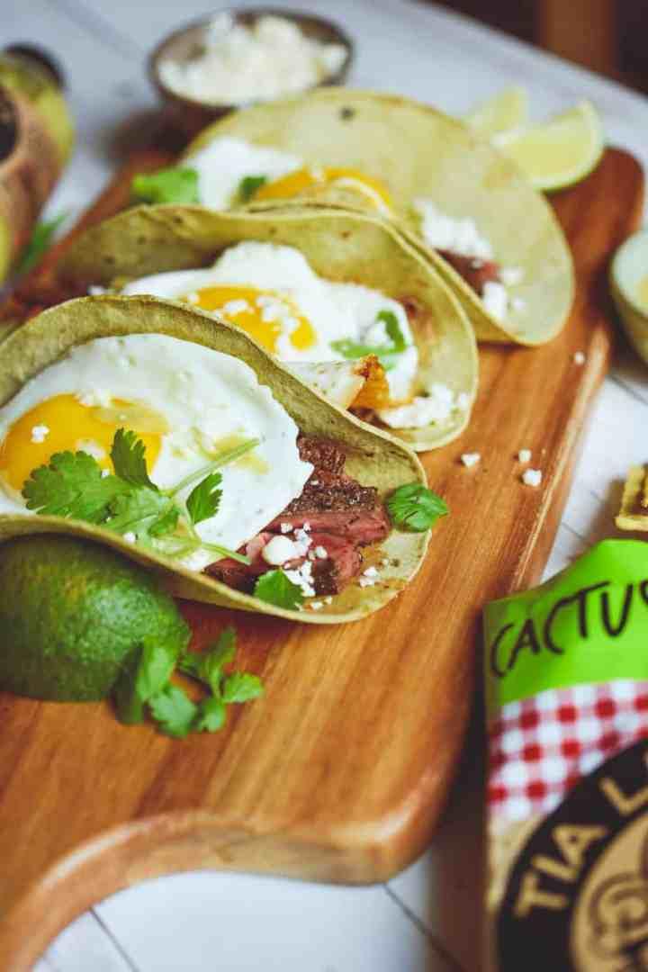 low carb keto breakfast brunch steak tacos