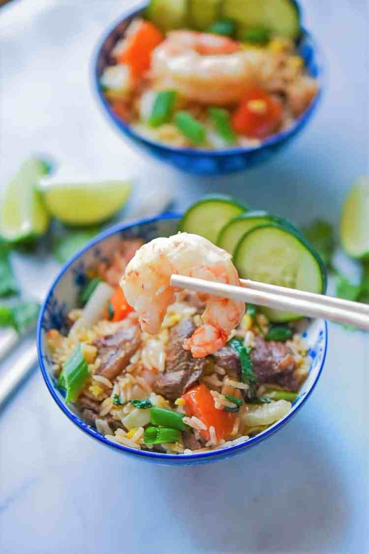 Easy Thai Fried Rice - Khao Phat