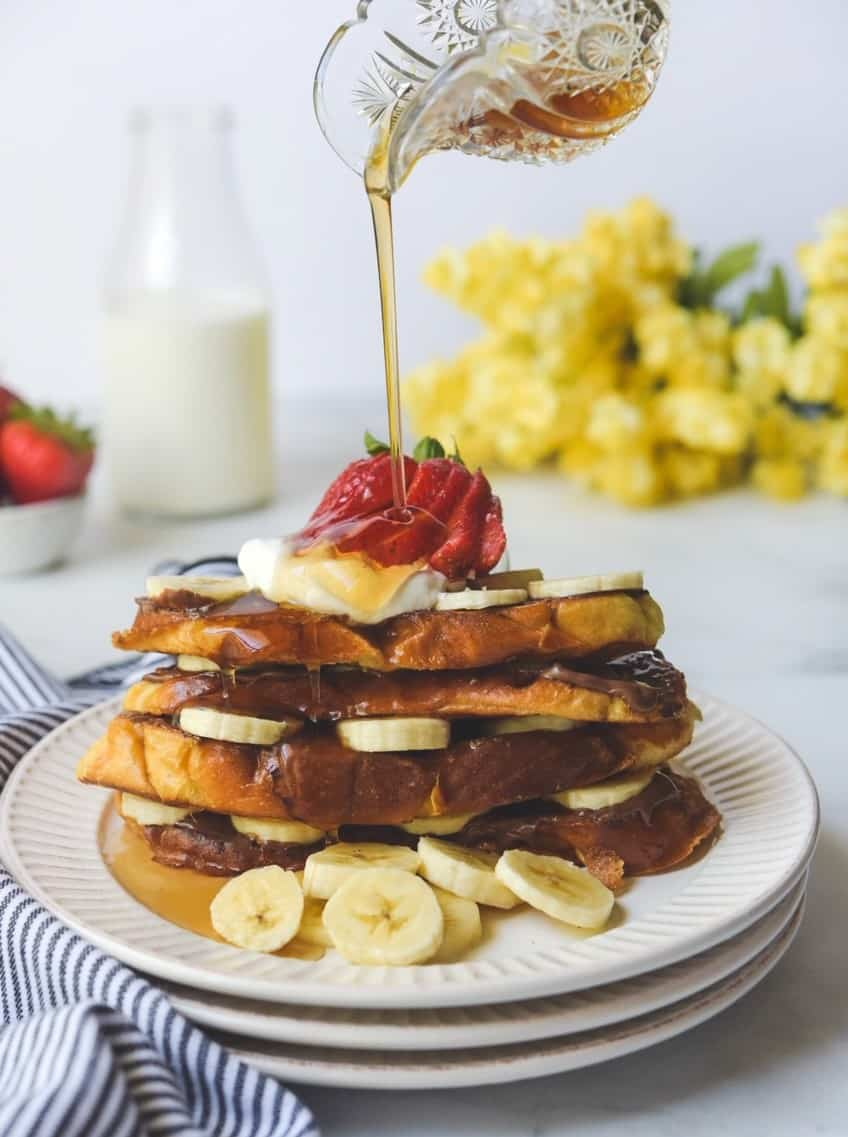 Nutella Banana French Toast