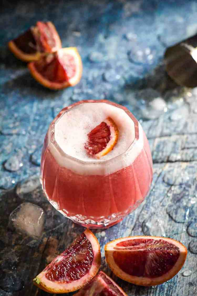 Easy Blood Orange Vodka Sour