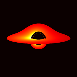 Black hole with accretion disk