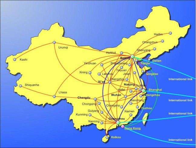 China FX Connectivity Maps
