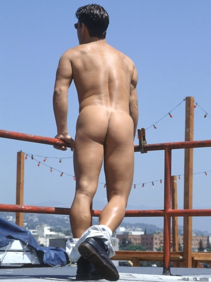 naked jock ass