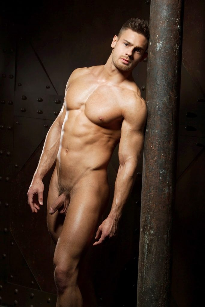 Sexy Russian man Kirill Dowidoff with his cock out
