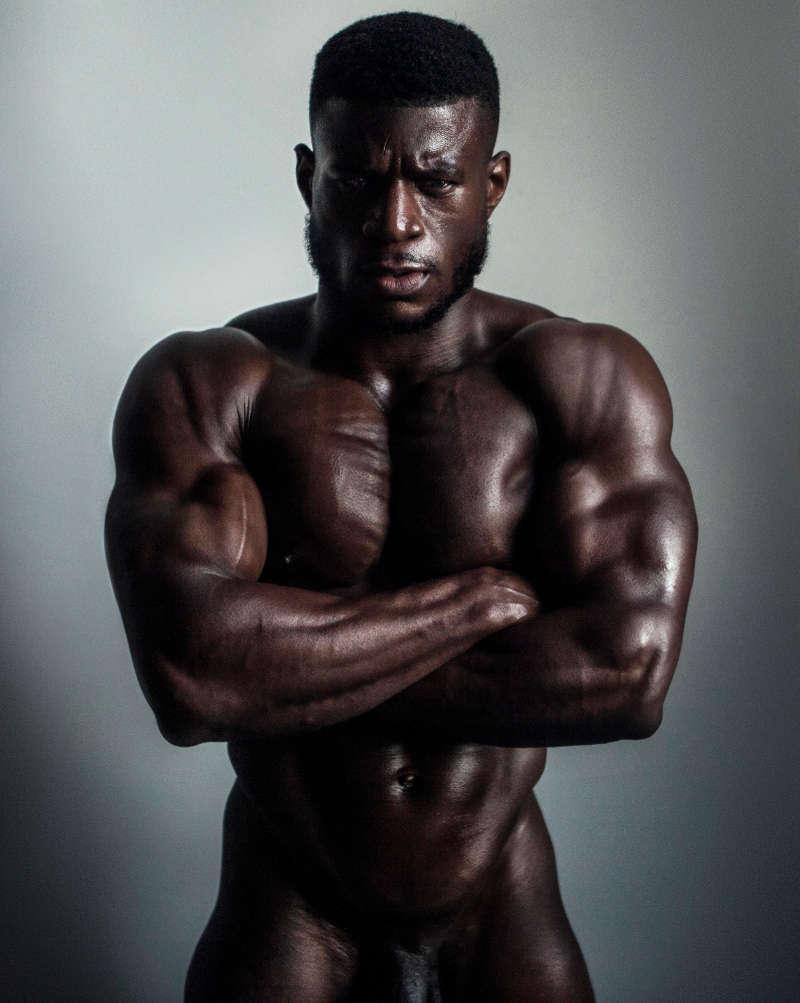 British muscle man Daniel Shoneye naked