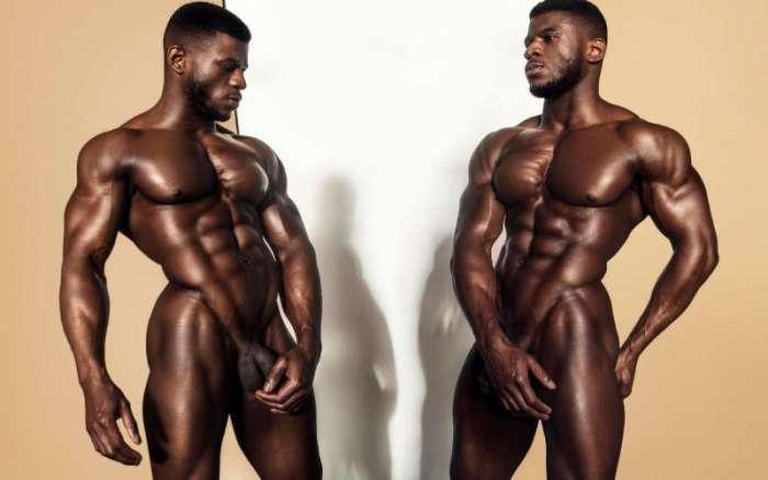 nude male model Daniel Shoneye