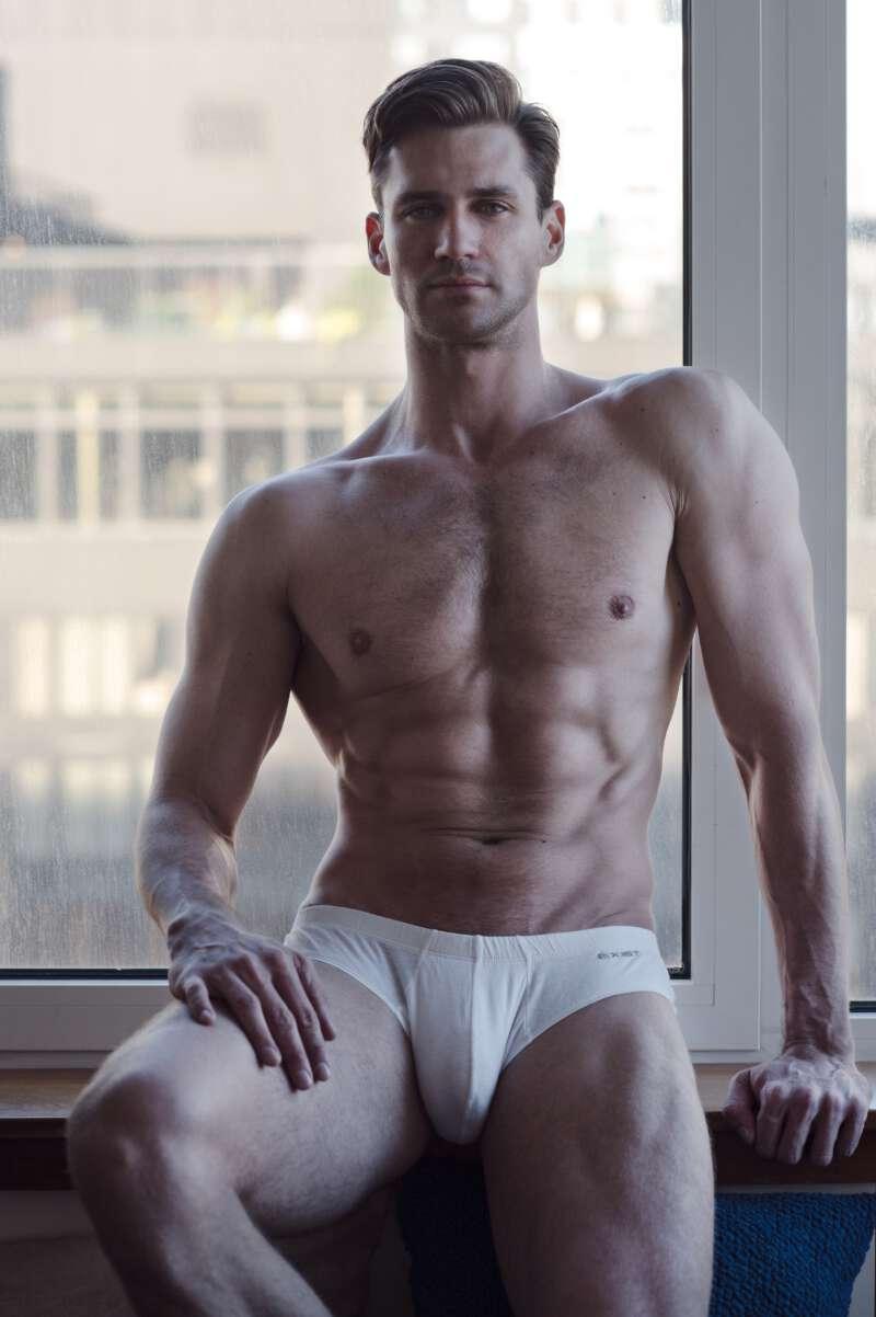Nicholas Cunningham in white underwear