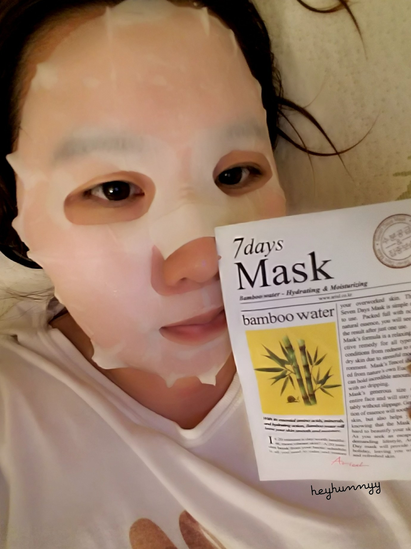 ::Review:: 7 Days Mask Bamboo Water!
