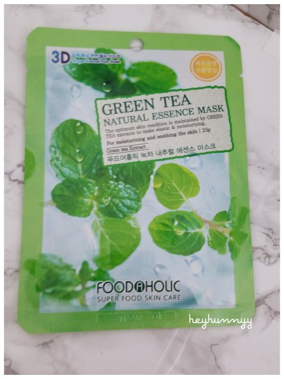 :REVIEW:: Foodaholic 3D Green Tea Natural Essence Mask