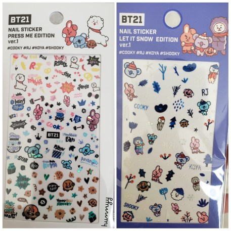 ::BTS:: BT21 White Nail Look!