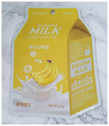 ::Review:: A'Pieu Banana Milk One Pack!