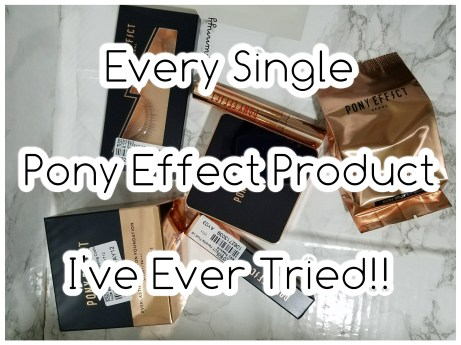 Every Single Pony Effect Product I've Ever Tried!