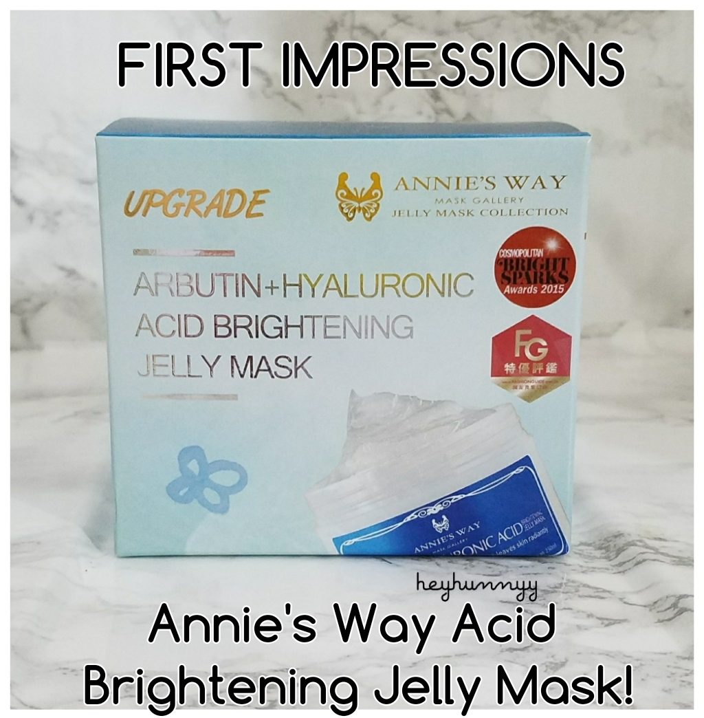 ::FIRST IMPRESSIONS:: Annie's Way Acid Brightening Jelly Mask!