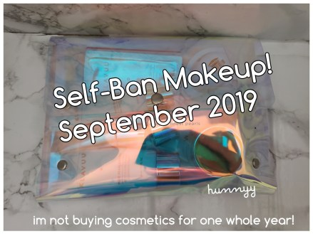 ::SELFBAN:: No Beauty Buy September!!