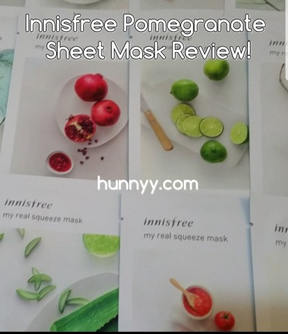 ::REVIEW:: Innisfree Pomegranate My Real Squeeze Sheet Mask!