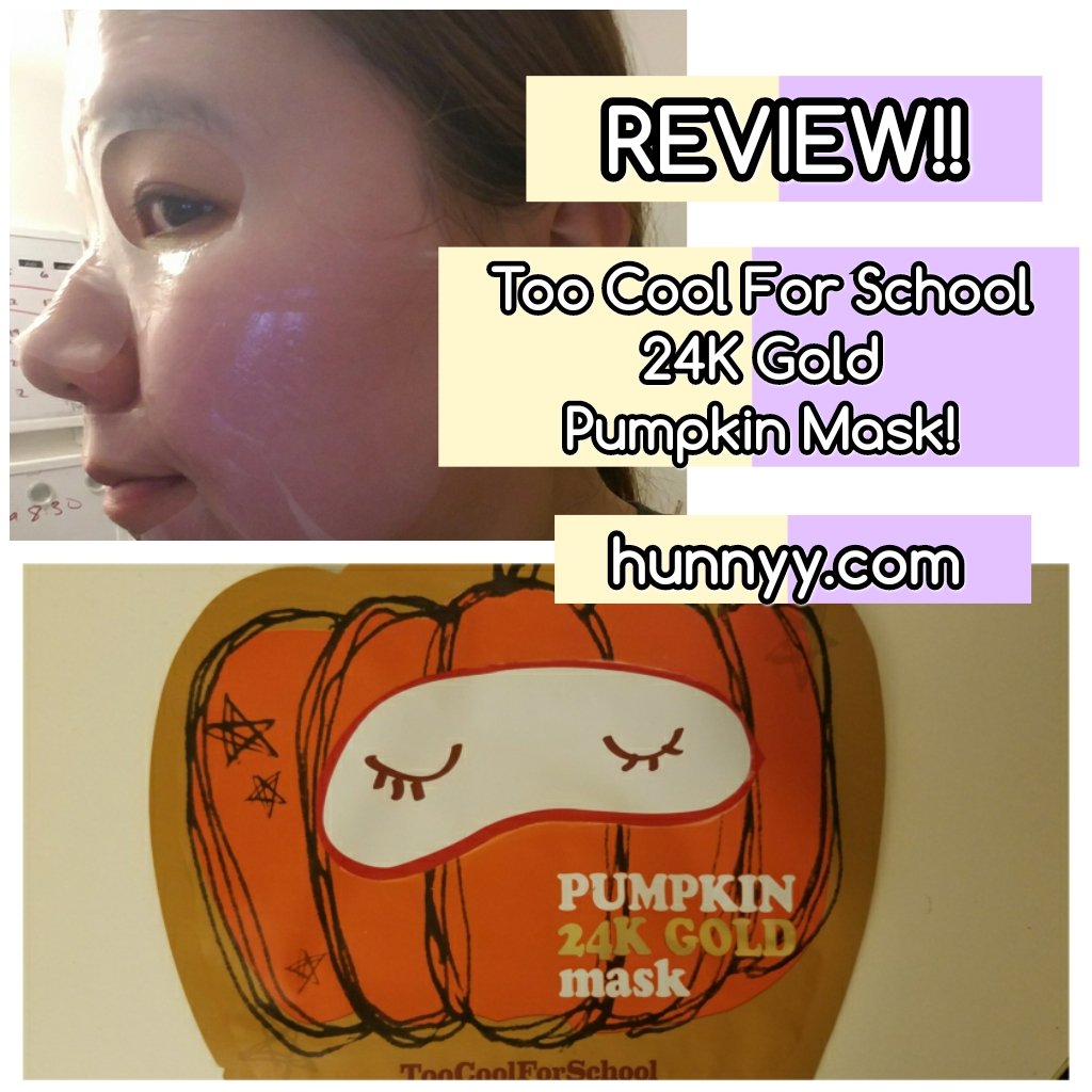 ::REVIEW:: Too Cool For School - Pumpkin 24k Gold Mask!