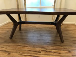 mid century modern table base 2 with a