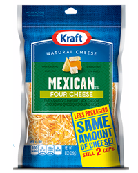 KRAFT Natural Shredded Cheese FREE Bag of Kraft Natural Shredded Cheese at Safeway & Affiliates