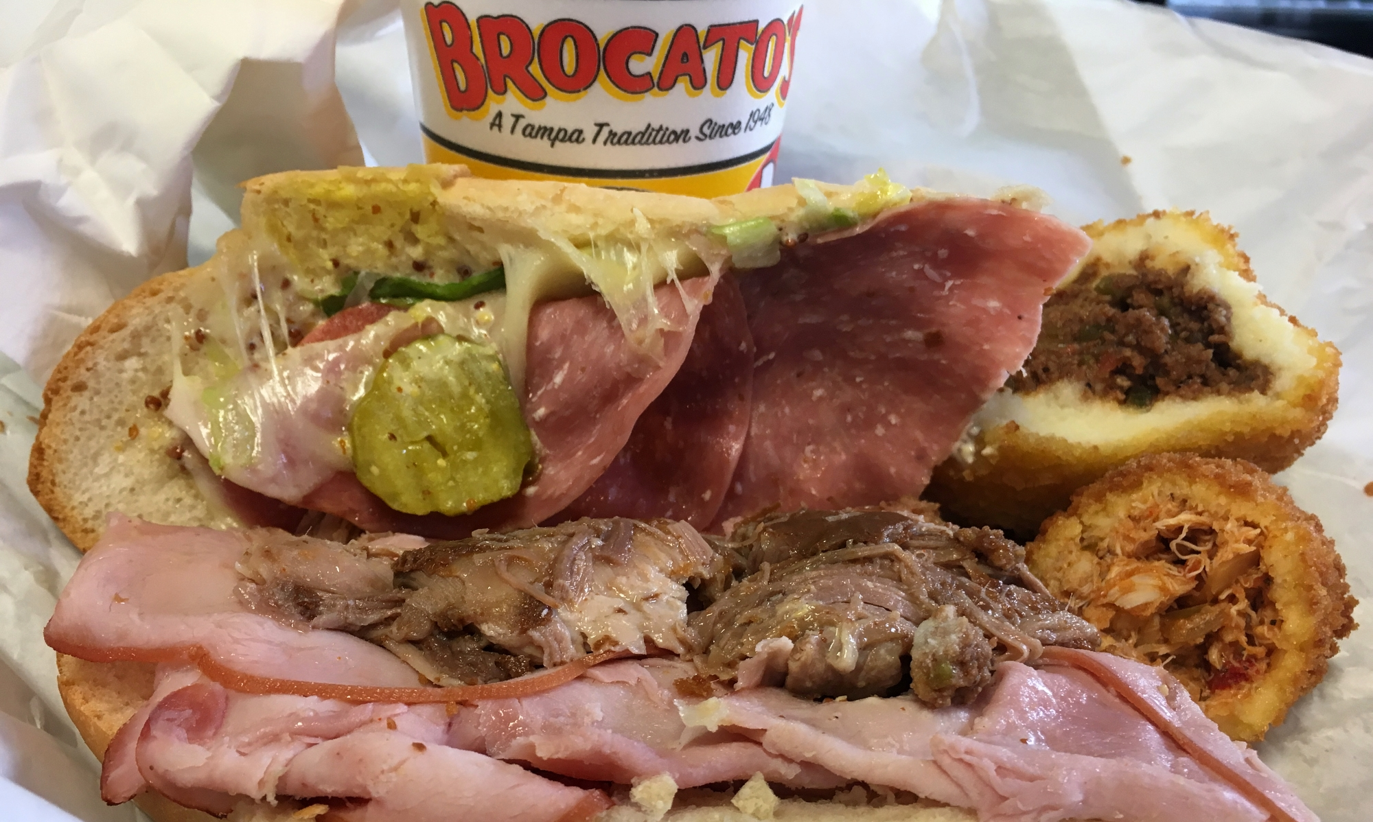 Image: Brocato's Sandwich Shop Cuban sandwich