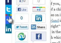 Scrolling Twitter Like Google+1 Linkedin and Stumbleupon Plugin