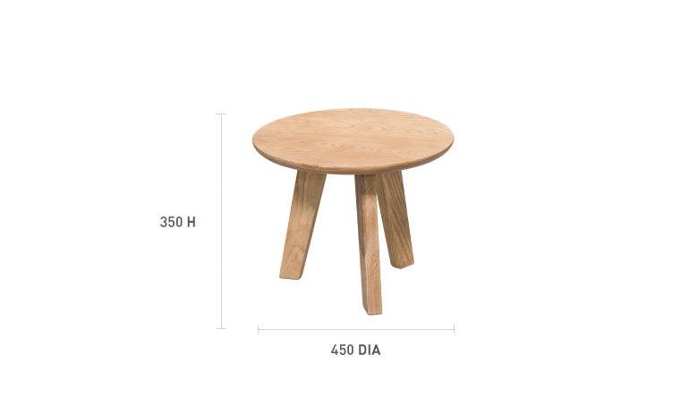 arco coffee table round small