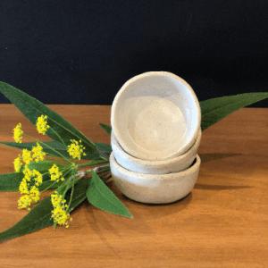 Handmade Ceramics Australia - pinch pot salt dish hunter and the fox